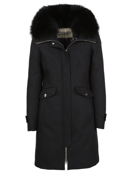 Herno parka black coat