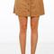 Cowgirl button suede mini skirt