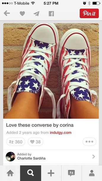 shoes american flag high top converse