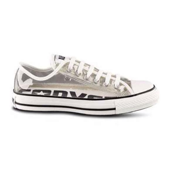 shoes converse clear plastic