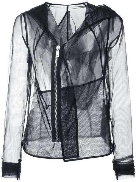 Rick Owens Lilies jacket long sheer women spandex black