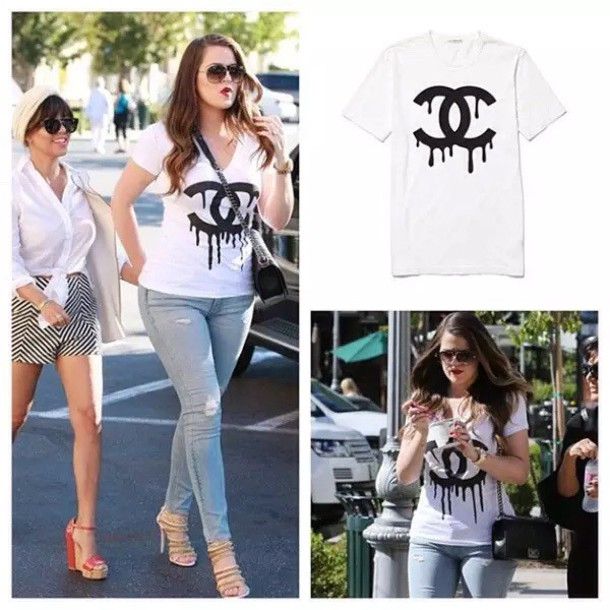 t-shirt khloe kardashian shoes shirt