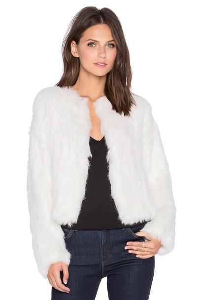 ELLIATT jacket fur jacket fur white