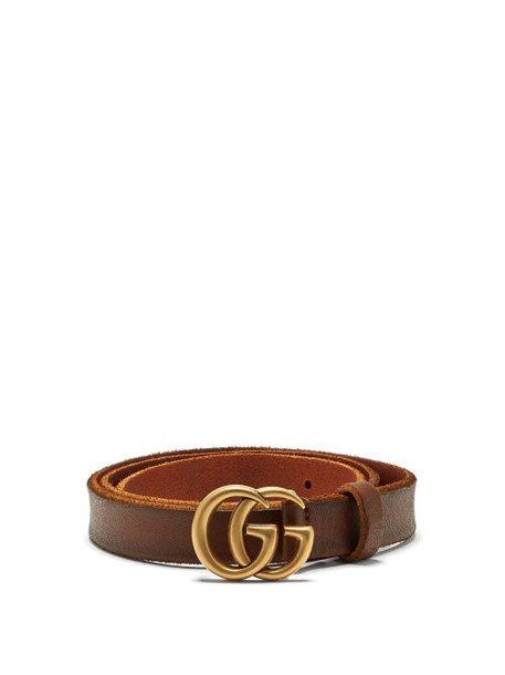c12041654 Gucci - Gg Logo 2cm Leather Belt - Womens - Tan - Wheretoget