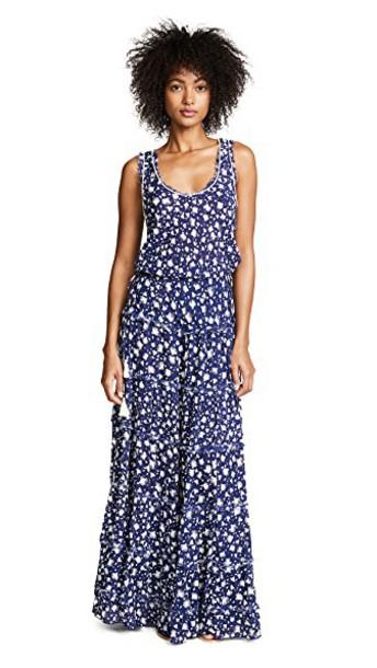 Poupette St Barth dress long dress long tassel blue