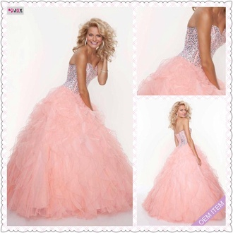 prom dress sparkly ball gown long ruffle