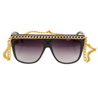 Amazon.com: iB-iP Womens Golden Chain Sunglasses Fashion Eyewear, Gold: Clothing