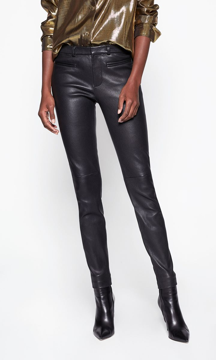 Sylvanna Leather Front Trouser