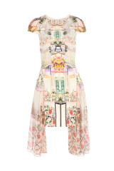 Mary katrantzou pink serendipity print dress