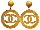Vintage Chanel earrings sunburst CC logo dangle | Vintage Five