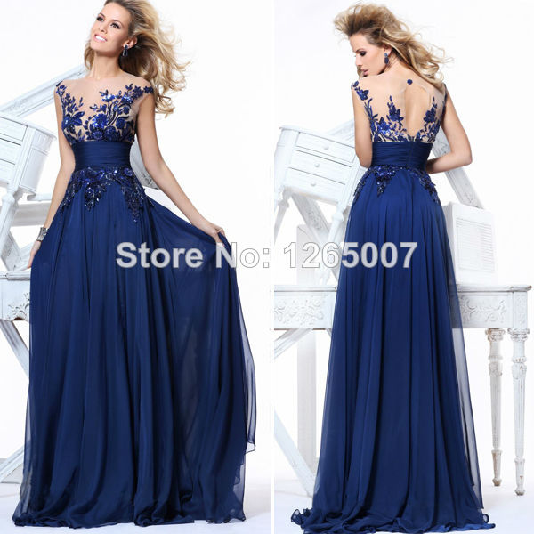 Aliexpress.com : Buy Tarik Edizalt V Neck Lace Diamond A Line Prom Dress Maxi Dress New Fashion Blue Long Dress Special Occasion Cheap Prom Dress from Reliable lace arm suppliers on SFBridal
