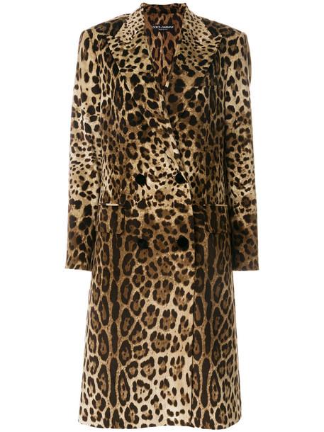 Dolce & Gabbana coat leopard print coat women cotton print leopard print