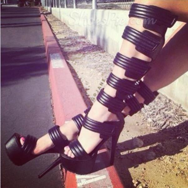 shoes sandals black