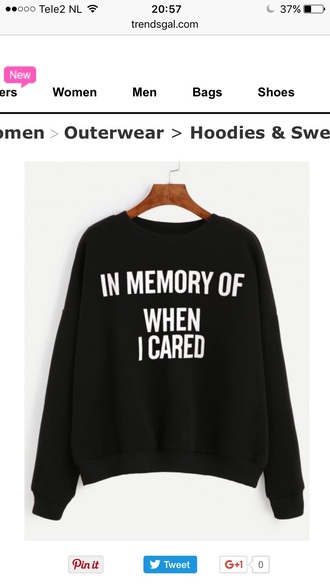 sweater quote on it cool black fashion style trendy casual fall outfits trendsgal.com