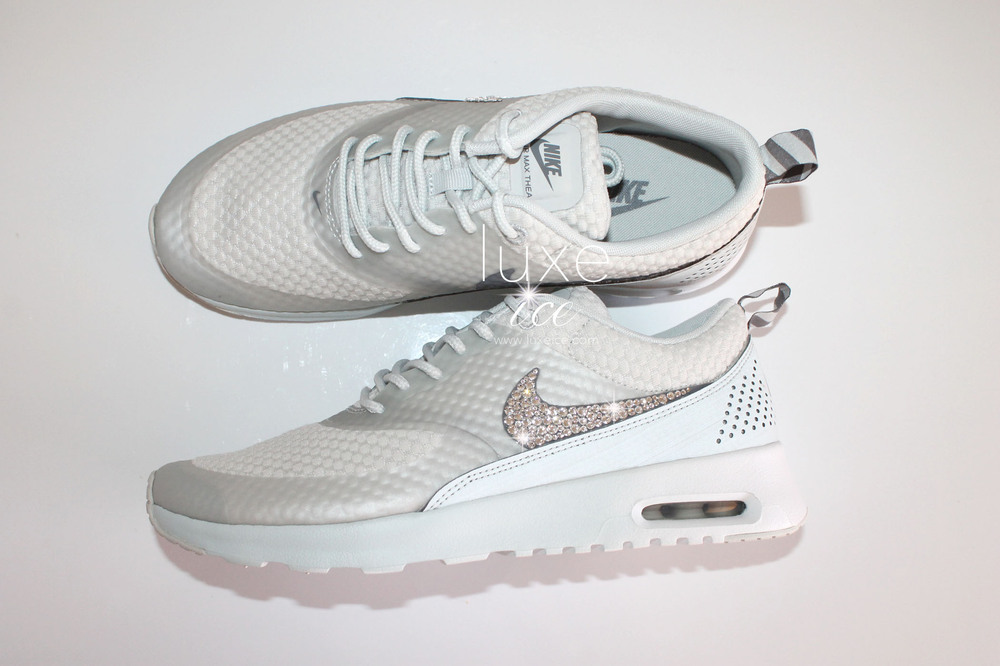 c53819f31d Nike Air Max Thea shoes w/Swarovski Crystals detail - Grey