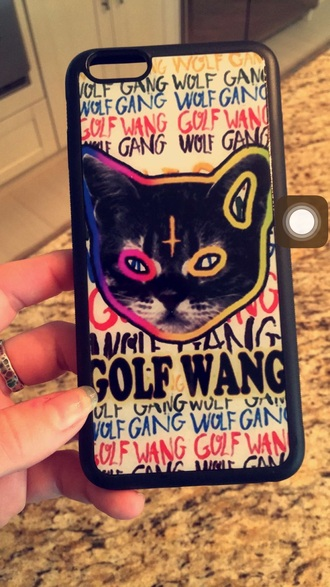 phone cover of odd future cute cats quote on it colorful taco wolf gang love girlfriend girl girly live lit guys gq