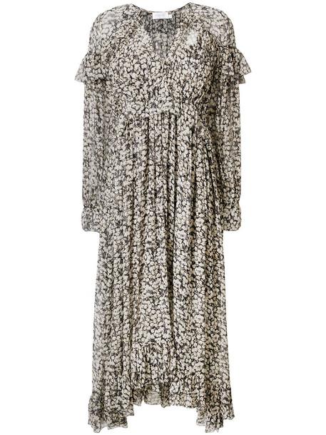 dress floral dress women spandex floral black silk