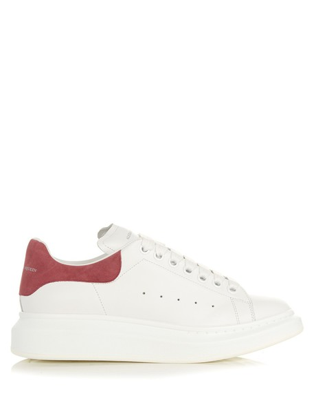 Alexander Mcqueen leather white pink shoes