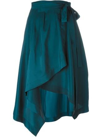 skirt wrap skirt green