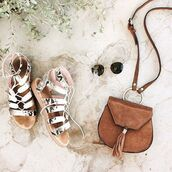bag,nasty gal x nila anthony,nastygal,nila anthony,satchel,crossbody bag,suede,brown,boho,tassel,70s style