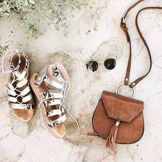 bag nasty gal x nila anthony nastygal nila anthony satchel crossbody bag suede brown boho tassel 70s style
