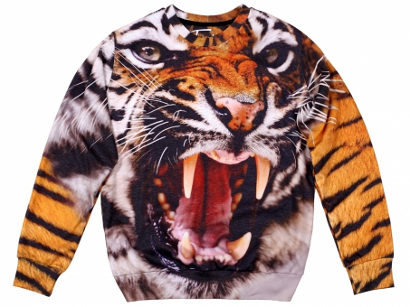 Original sexy sweater angry tiger