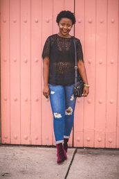 pinksole,blogger,jewels,top,jeans,shoes,bag,ankle boots,lace top,shoulder bag,plus size,plus size jeans,plus size top