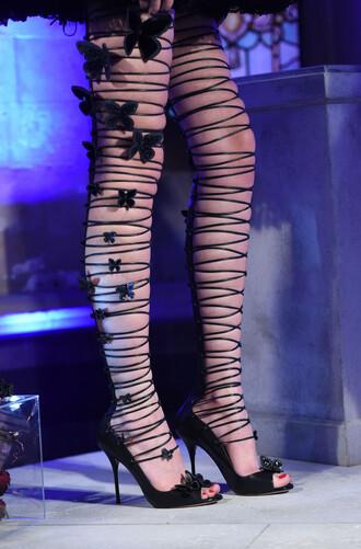 shoes sandals fashion week 2016 lace up black high heels sandal heels high heel sandals london fashion week 2016 sophia webster