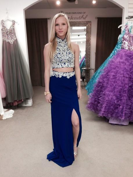 Dress Prom Dress Blue Dress Long Prom Dress Blue Prom Dress