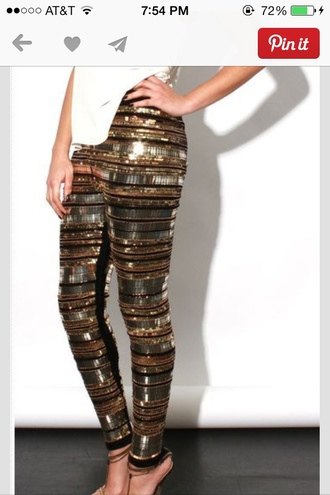 pants sparkle bronze sparkle gold sparkle black sparkle embellished pants black gold sequins leggings tights sequins bling sequin pants embellished new year's eve