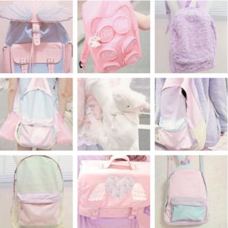 bag backpack pastel kawaii dope goth kawaii bag pastel backpack