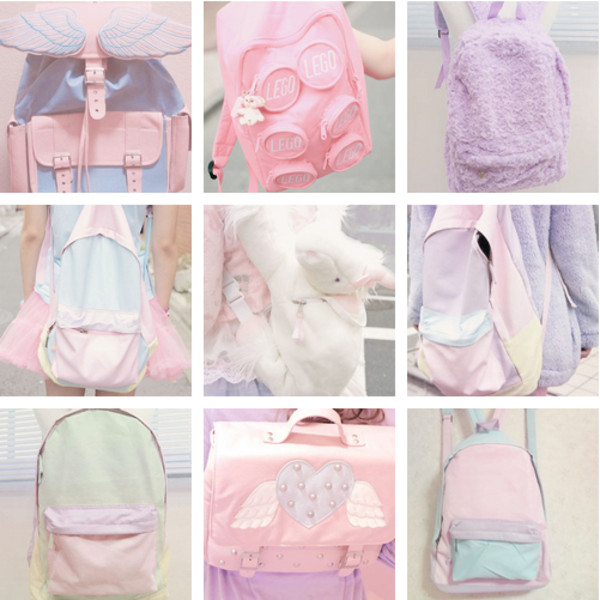 bag backpack pastel kawaii dope goth kawaii bag pastel backpack
