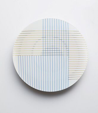 home accessory plate dinnerware stripes geometric