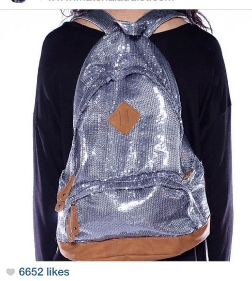 glitter sequins silver sequins bag silver glitter backpack glitter backpack sequins backpack silver backpack