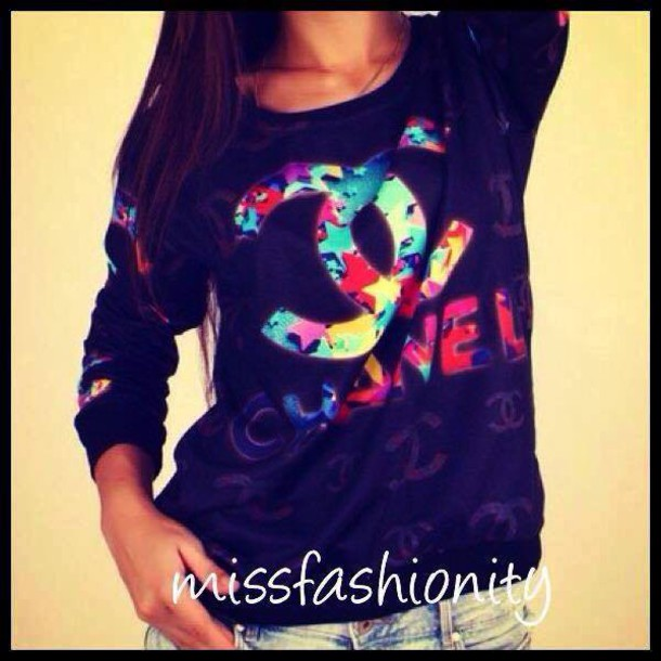 sweater multicolor chanel