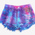 Hand Dyed Cosmic Studded Shorts - One of A Kind | RUNWAYDREAMZ