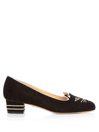 heel suede pumps pumps suede black shoes