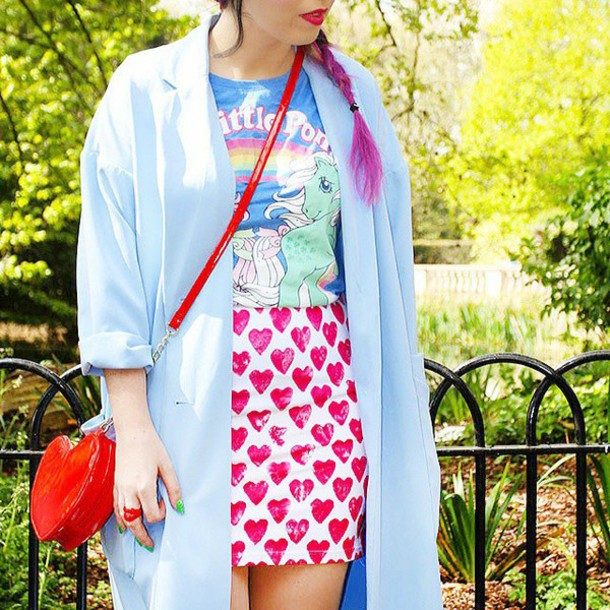 skirt batoko heart heart love cool summer friendly friends blogger style batoko.com www www.batoko.com