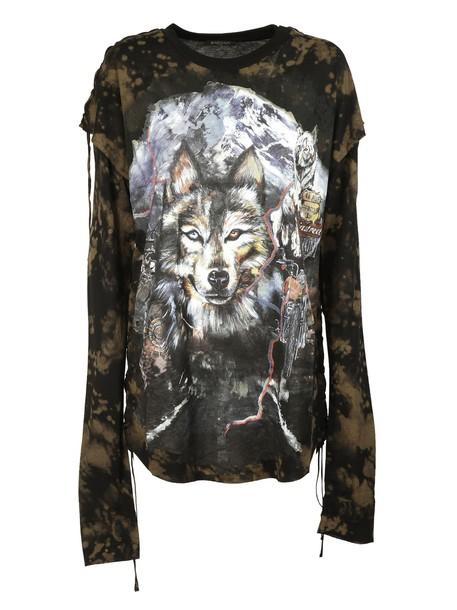 Balmain t-shirt shirt t-shirt wolf multicolor top