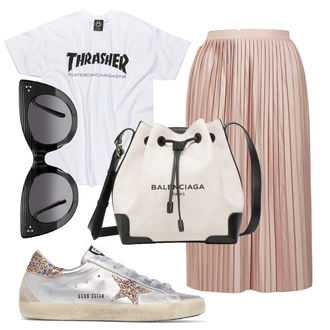 jane's sneak peak blogger shoes t-shirt skirt sunglasses bag sweater