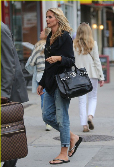 heidi klum shoes jeans bag
