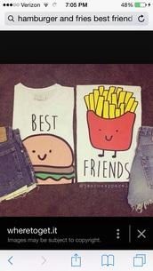 top,shirt,best friend shirts,bff shirts