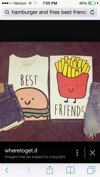 top shirt best friend shirts bff shirts