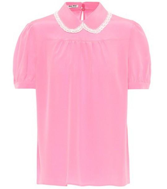 Miu Miu top silk pink