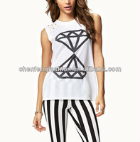 Source Spiked Basic Diamond Muscle Tee CB0678 on m.alibaba.com