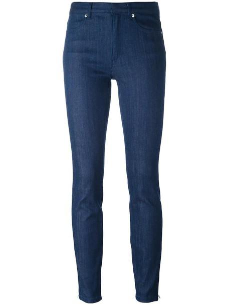 A.P.C. jeans skinny jeans women cotton blue