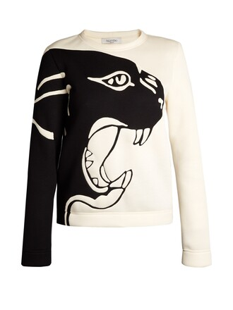 sweatshirt white black sweater
