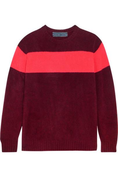 The Elder Statesman - Striped Cashmere Sweater - Burgundy