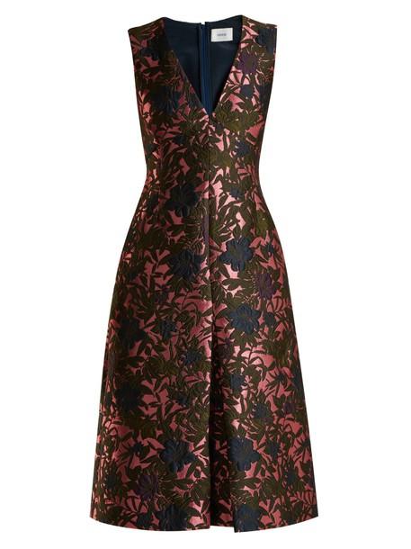 Erdem dress midi dress midi jacquard floral pink