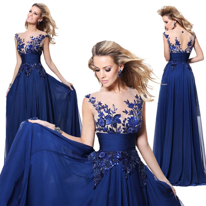 tarikediz Long royal blue prom evening dress | Prom Dresses | Pinterest